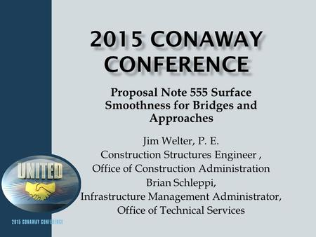 Proposal Note 555 Surface Smoothness for Bridges and Approaches