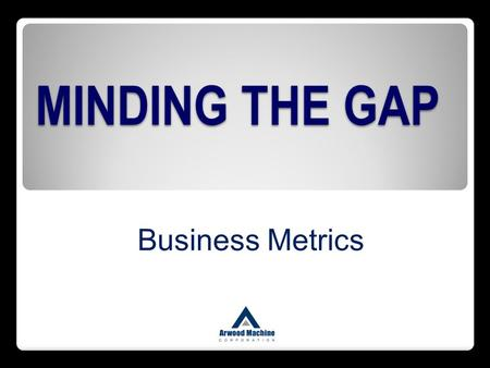 MINDING THE GAP Business Metrics.