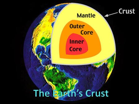 The Earth's Crust.