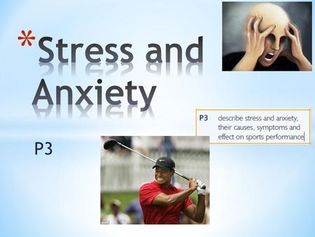 Stress and Anxiety P3.
