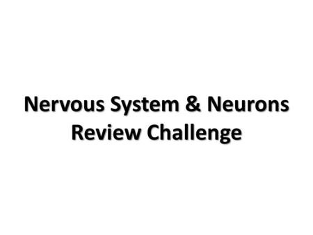 Nervous System & Neurons Review Challenge. Which nervous tissue cells help regulate the chemical environment of neurons? #1.