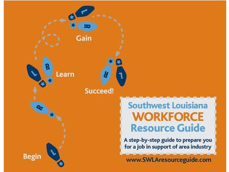 WHAT IS THE SWLA WORKFORCE RESOURCE GUIDE?  The Southwest Louisiana Workforce Resource Guide is a step-by-step guide for getting a well-paying job.