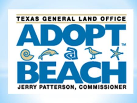 Who: EVERYONE! What: Adopt-A-Beach Spring Cleanup When: SATURDAY, APRIL 20,2013 Where: GATHER FOR CHECK IN AT THE TEXAS STATE MARINE EDUCATION CENTER.