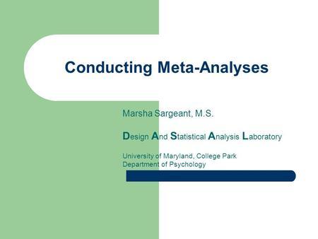 intro to psych meta analysis How to get a meta analysis doodle ads  what does meta-analysis mean meta-analysis meaning & explanation  introduction to meta-analysis, joshua r polanin - duration: 1:08:49 the .