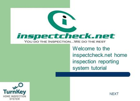 Welcome <strong>to</strong> the inspectcheck