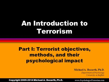 an introduction to the causes of terrorism and how can it be stopped These events beg the question: what are the causes of terrorism and can it be prevented social infrastructure social conditions like poverty can leave populations vulnerable to terrorist activity .