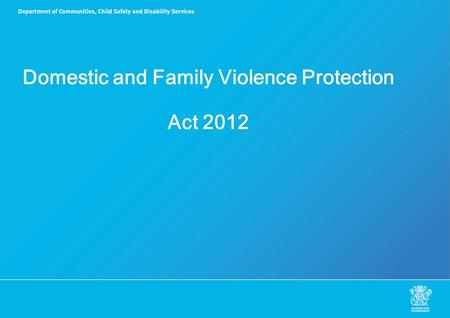 Domestic and Family Violence Protection