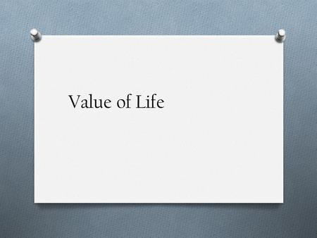 Value of life essay erwc