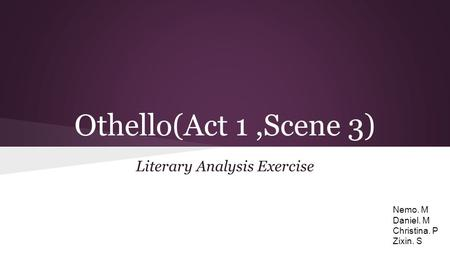 an analysis of the role of desdemona in othello by william shakespeare Teaching william shakespeare's and gender roles in othello from a feminist tell students to find examples concerning only othello's, desdemona's.