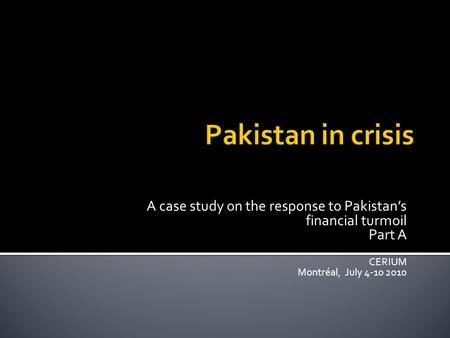 case study economic turmoil in