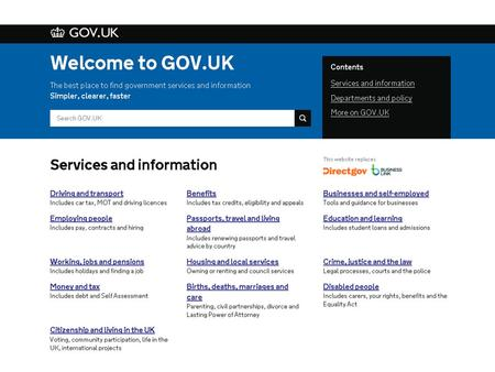 How did we get here? In 2004 the government web went from a loosely coordinated collection of websites...