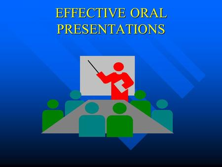 EFFECTIVE ORAL PRESENTATIONS Why?? You will have to give oral presentations after graduation. You will have to give oral presentations after graduation.