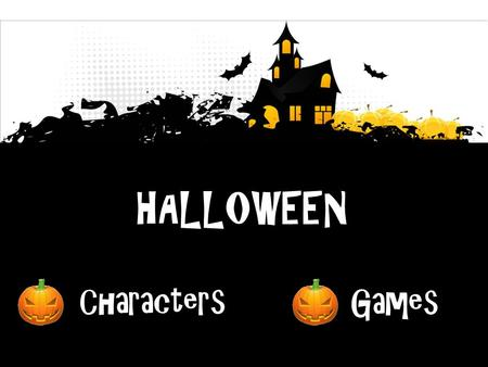 HALLOWEEN Characters Games. Let'slearn.Let'slearn.