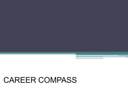 CAREER COMPASS. What is Career Compass?  Link training to core competencies, job duties  Training supports career paths defined by job standards  Help.