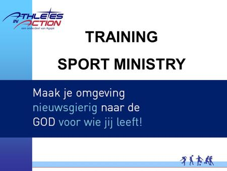 TRAINING SPORT MINISTRY. SPORT MINISTRY AND YOUR CHURCH.