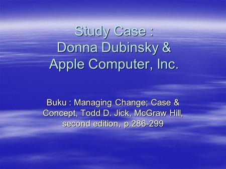 apple computer inc case study 14 Primer on case study analysis(2) 19e_section7_tn_case14pdf case study directions read the case study, apple inc in 2012 (case #14) case study, apple inc.