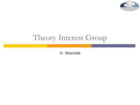 Theory Interest Group H. Wozniak. 2010-May-19H. Wozniak / Obs. Strasbourg / VO-France2.