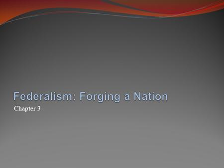 Chapter 3. Federalism: National and State Sovereignty The argument for federalism Authority divided into two levels: national and regional Protects liberty.