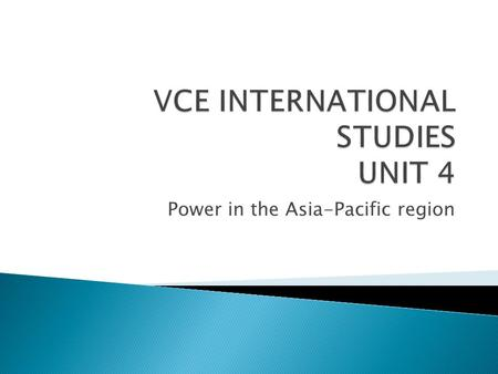 power in the asia pacific region essay