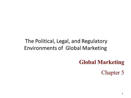 political and legal environment of international marketing Brazil is attractive to many international clients of brokers and insurers because of its stable political and economic environment however, those positives exist amidst bureaucracy, taxes.