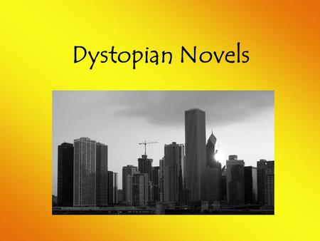 Dystopian Novels. Definition Check: Utopian Utopian refers to human efforts to create a hypothetically perfect society. It refers to good but impossible.