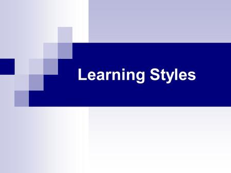 Learning Styles. 2 Learning style a consistent pattern of behaviour within a range of individual variability (Cornet, 1983); a student's consistent way.