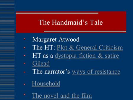 an analysis of margaret atwoods the handmaids tale -essay: margaret atwood's the handmaid's tale offers us not so much a  realistic vision of the future but an analysis of the oppression of women through.