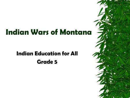 Indian Education for All Grade 5