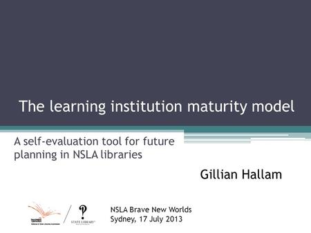 The learning institution maturity model