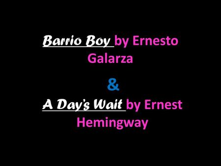 ernesto galarza barrio boy essay Barrio boy has 231 ratings and 29 reviews lizandro said: this is not my usual  read but quite an astonishing story this novel does get quite moving at s.