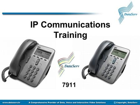 IP Communications Training 7911. Getting to Know Your Phone 1.Phone Screen 2.Phone Model 3.Soft Key Buttons 4.Navigation Button 5.Applications Menu Button.