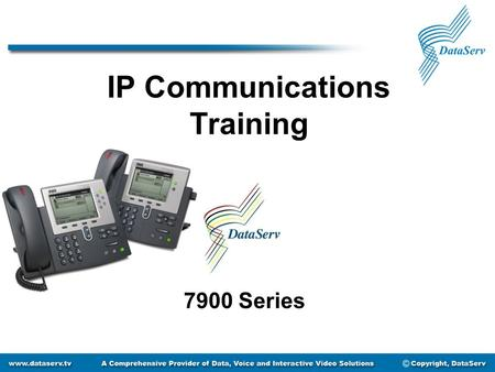 IP Communications Training 7900 Series. Getting to Know Your Phone Message Waiting LCD Screen Soft Keys Footstand Adjustment Speakerphone Navigation Button.