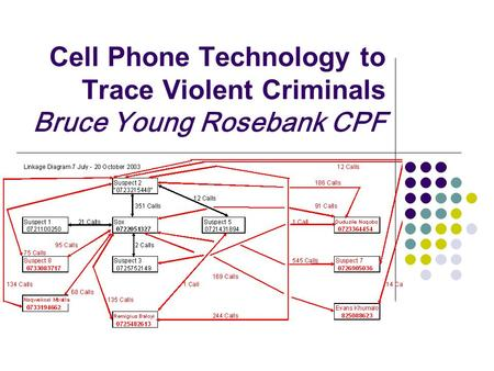 Cell Phone Technology to Trace Violent Criminals Bruce Young Rosebank CPF.