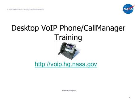 Desktop VoIP Phone/CallManager Training