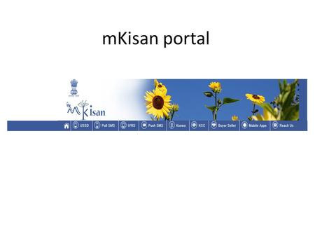 MKisan portal. Monitoring SMS User can monitor all the SMS sent by other members.