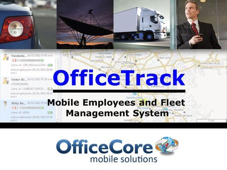 OfficeTrack Mobile Employees and Fleet Management System.