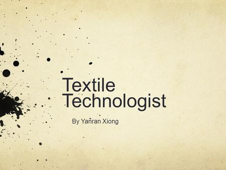 Textile Technologist By Yanran Xiong. Illustration.