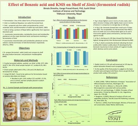 Introduction  Fermentation- One of the oldest forms of food preservation  Sinki is a traditional Nepalese non-salted fermented food.  Sinki – prepared.