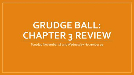 Grudge Ball: Chapter 3 Review