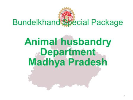 Bundelkhand Special Package Animal husbandry Department Madhya Pradesh 1.