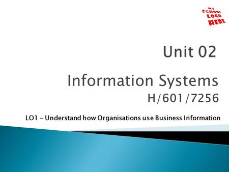 Information Systems H/601/7256