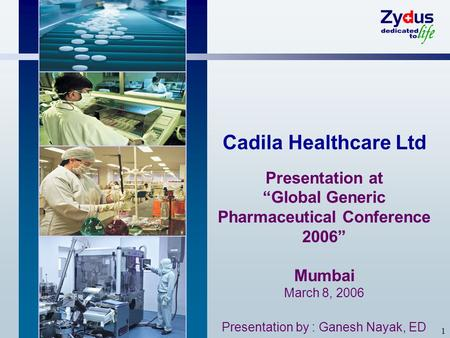 """Global Generic Pharmaceutical Conference 2006"""