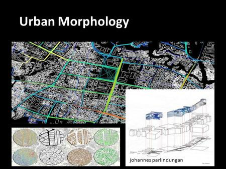Urban Morphology.