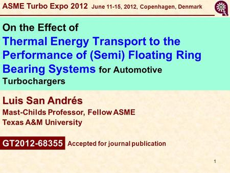 ASME Turbo Expo June 11-15, 2012, Copenhagen, Denmark