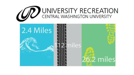 Event will run the entire month of February. Consists of three events Swim – 2.4 miles Bike – 112 miles Run – 26.2 miles.