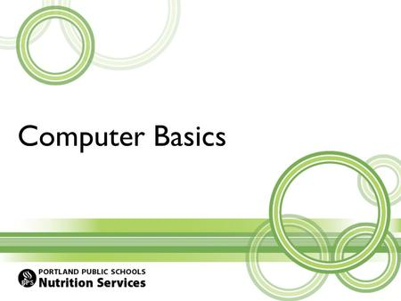Computer Basics. Agenda Windows 7 Printing Microsoft Outlook Microsoft Excel Staff Resources.