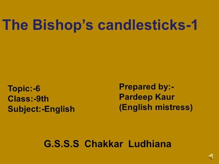 The Bishop's candlesticks-1