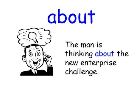 About The man is thinking about the new enterprise challenge.