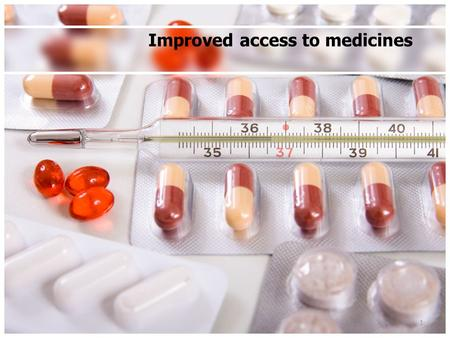 "Improved access to medicines 1. Impact of the ""Crown Report"" Broadening the public's access to medicines Pre-Crown report – Medically qualified doctor."