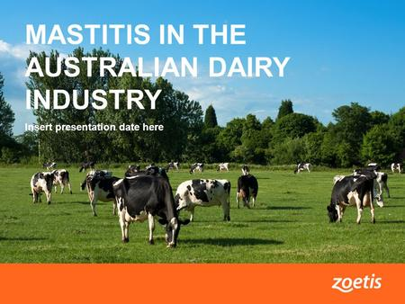 1Mastitis in the Australian dairy industry MASTITIS IN THE AUSTRALIAN DAIRY INDUSTRY Insert presentation date here.